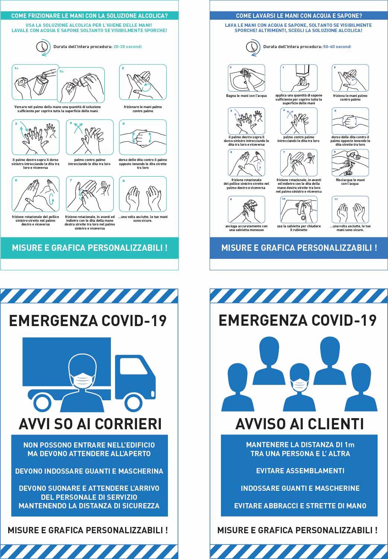 pannelli informativi COVID-19 per aziende