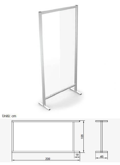 divisorio in vetro, protezione contro il covid-19