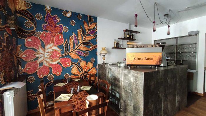 decorazione ristorante indonesiano cinta rasa